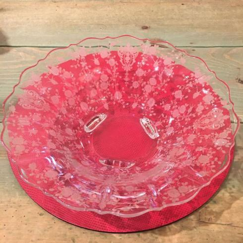 Rose Point Vintage Footed Bowl