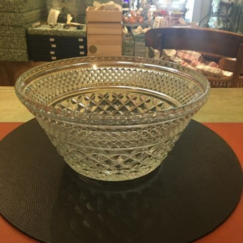 Vintage Cut Glass Salad Bowl