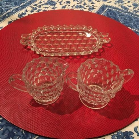 Small Vintage 3 Pieces Cream and Sugar Set collection with 1 products
