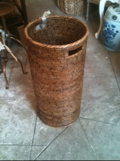 William-Wayne & Co. Exclusives   Woven Rattan UmbrellaStand $275.00