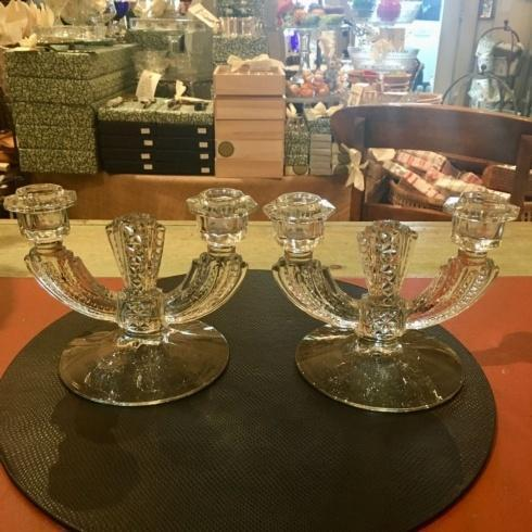 $275.00 Vintage Art Deco Set of 2 CAndleholders