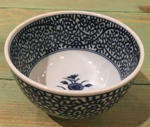 $15.00 Small Deep Japanese Bowl. Flower/Paisley