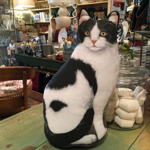 $47.50 Cat Door Stopper. Black and White