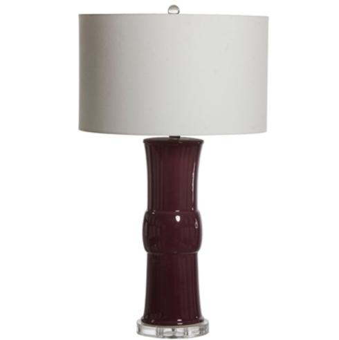 $575.00 Mina Eggplant Table Lamp