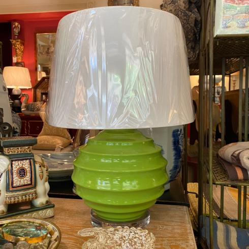 $575.00 Lucy Green Table Lamp