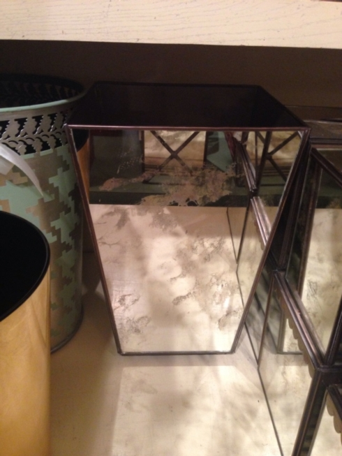 William-Wayne & Co. Exclusives   Plain Mirrored Wastebasket $195.00