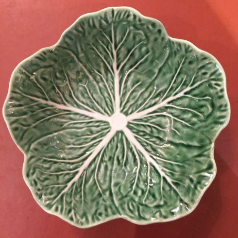 William-Wayne & Co. Exclusives   Green Cabbage Leaf Bowl $32.50