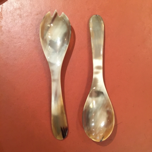 William-Wayne & Co. Exclusives   Horn Salad Servers $90.00
