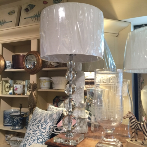 William-Wayne & Co. Exclusives   Crystal Ball Lamp with Square Base $325.00
