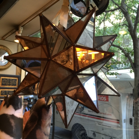 William-Wayne & Co. Exclusives   Small Mirrored Star Chandelier  $350.00