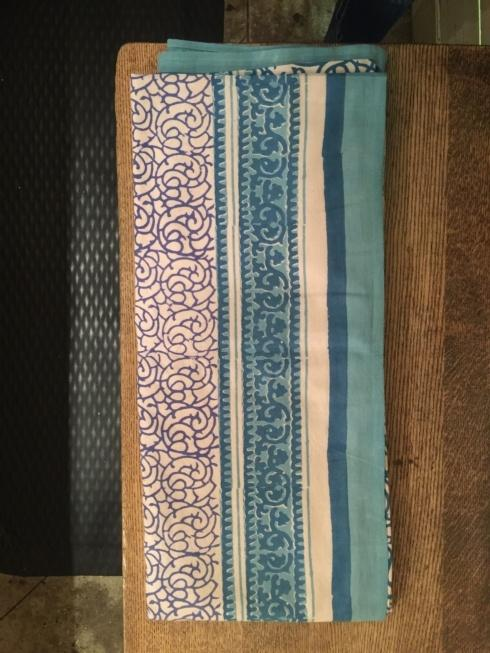 $47.50 Turquoise and Blue Indian Throw