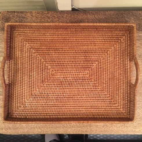 William-Wayne & Co. Exclusives   Rattan Tray with Square Edges $125.00