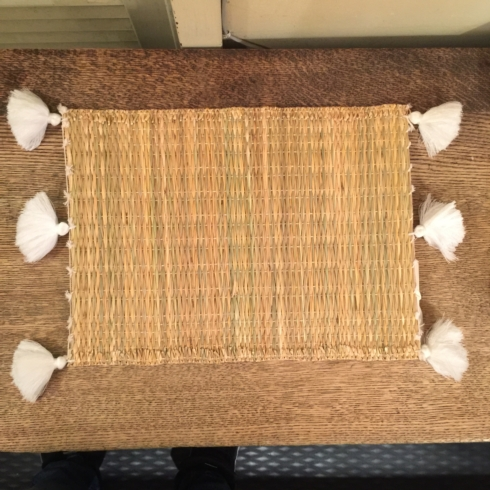 William-Wayne & Co. Exclusives   Reed-Woven Placemat with White Tassle $30.00