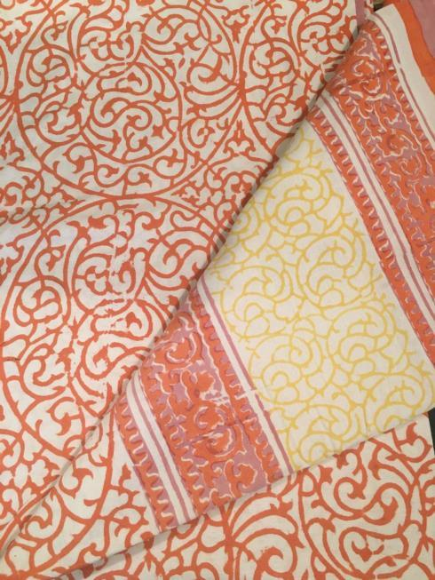 $47.50 Indian Throw/Tablecloth Persian Pink/Yellow