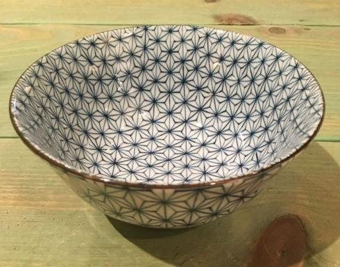 $16.50 Blue and White Japanese Bowl. Geom/Star.