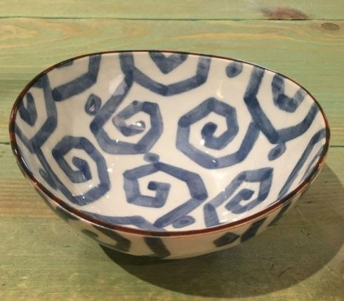 $25.00 Large Geometric Swirl Japanese Bowl