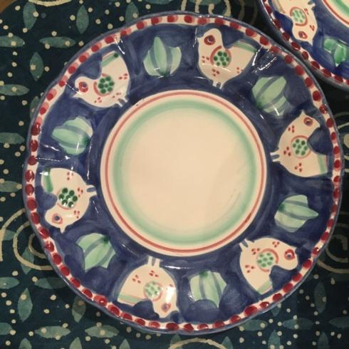 $350.00 Vintage Set of 10 Hand Painted Italian Pottery Salad Plates
