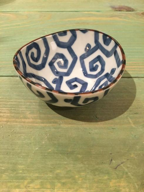 $15.00 Small Japanese Geometric Swirl Bowl