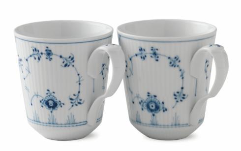 Royal Copenhagen  Blue Fluted Plain MUG, 12.5oz. SET/2  $147.00