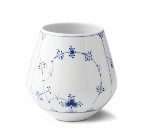 "Royal Copenhagen  Blue Fluted Plain Vase 6"" $195.00"
