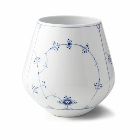 "Royal Copenhagen  Blue Fluted Plain Vase 8"" $240.00"