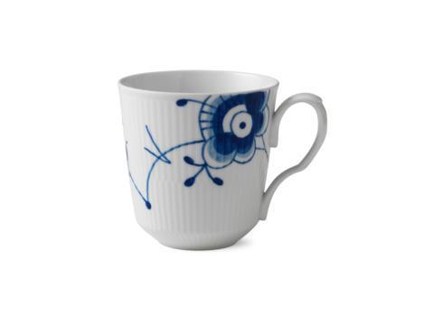Royal Copenhagen  Blue Fluted Mega Latte Mug with Handle $150.00