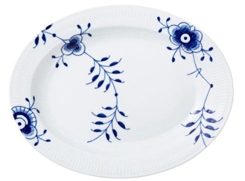 """Royal Copenhagen  Blue Fluted Mega Oval Platter Large 14.25"""" $270.00"""
