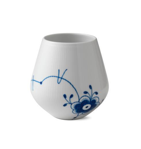 "Royal Copenhagen  Blue Fluted Mega Vase 6"" $175.00"
