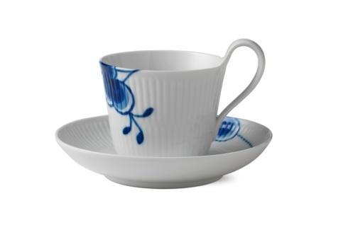Royal Copenhagen  Blue Fluted Mega High Handle Cup & Saucer # 2 $120.00