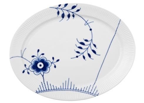 "Royal Copenhagen  Blue Fluted Mega Oval Platter 13"" $160.00"