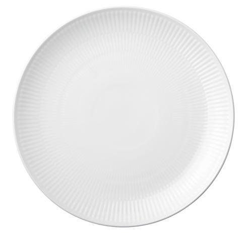 Royal Copenhagen  White Fluted Dinner Plate Coupe $50.00