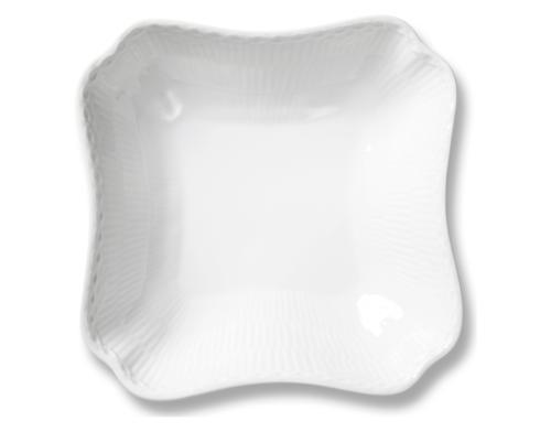 Royal Copenhagen  White Fluted Half Lace Square Bowl $120.00