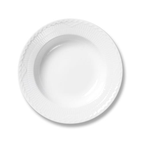 Royal Copenhagen  White Fluted Half Lace Rim Soup Bowl $55.00