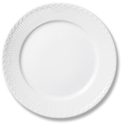Royal Copenhagen  White Fluted Half Lace Dinner Plate $70.00