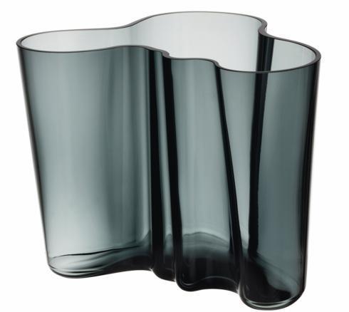 """$168.00 Vase 6.25"""" Dark Grey"""
