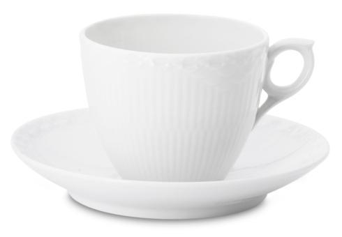 $48.00 Half Lace Coffee Cup & Saucer – 5.75oz