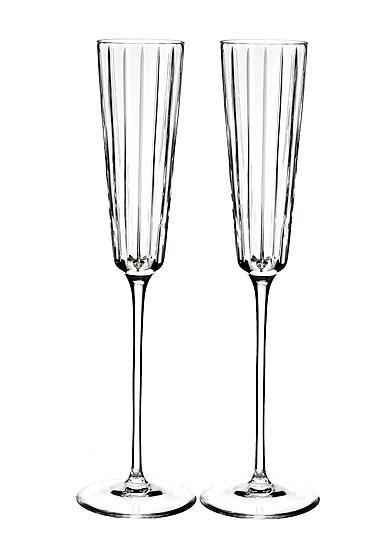 Rogaska Crystal  Avenue Champagne Flute, Pair $90.00