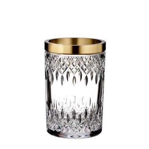 Lismore Reflection With Gold Band Vase 8