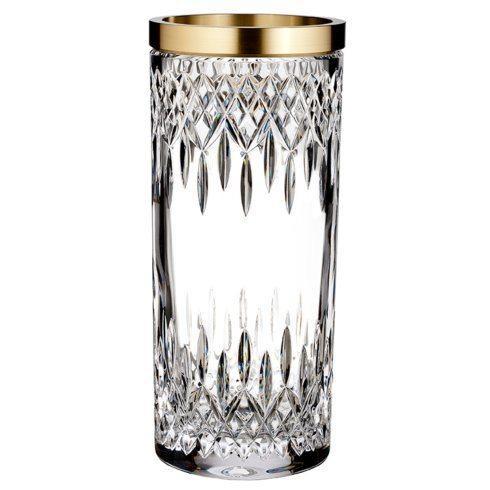Lismore Reflection With Gold Band Vase 12