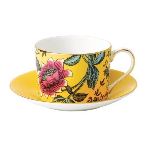 Teacup & Saucer Set Yellow Tonquin