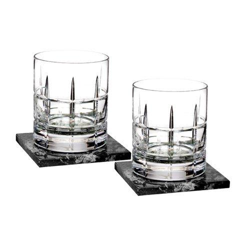 Waterford  Short Stories Cluin DOF Set/2 With Marble Coasters $175.00