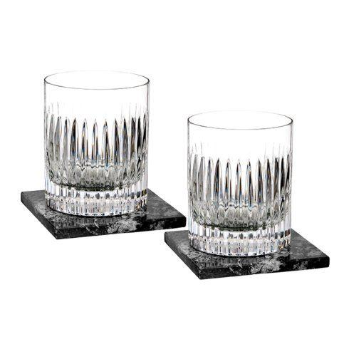 Waterford  Short Stories Aras DOF Set/2 With Marble Coasters $175.00