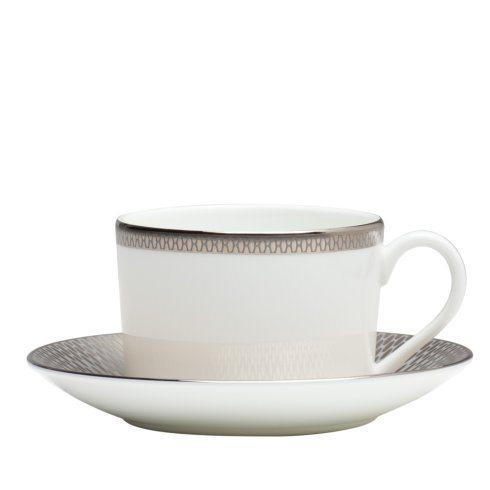 Teacup & Saucer Set Grey