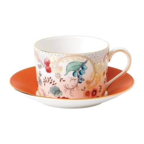 Teacup & Saucer Set Rococo Flowers