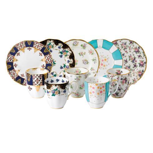 """$289.99  1900-1940 10-Piece Mug & Plate 8"""" Set"""