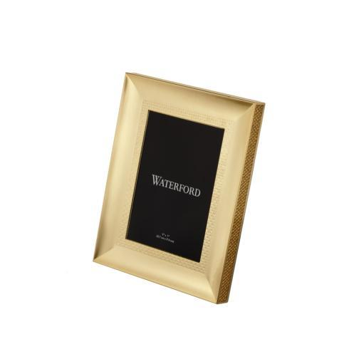 "Waterford  Lismore Diamond Gold 5""x7"" Frame $100.00"