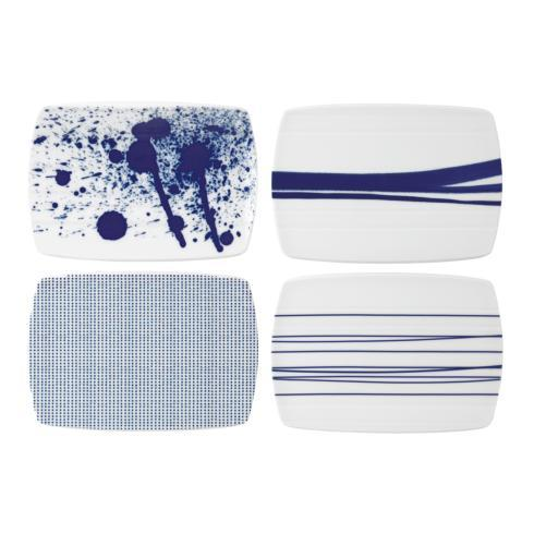 """Royal Doulton  Pacific Mixed Patterns Cheese Boards 7.8"""" Set of 4 $55.00"""