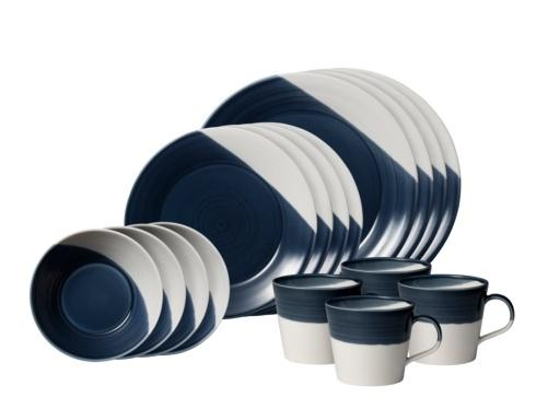 $137.99 16 - Piece Set Dark Blue