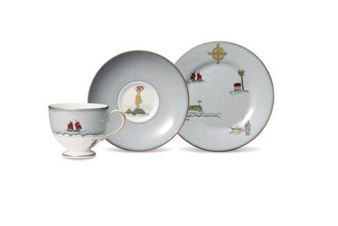 "$220.00 3-Piece Set (Teacup, Saucer & Plate 8"")"