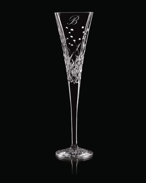 "$160.00 Lismore Diamond Toasting Flute Pair ""V"" Script"